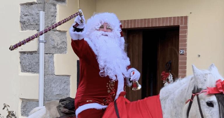 Crognaleto, Babbo Natale sul cavallo bianco per i più piccoli