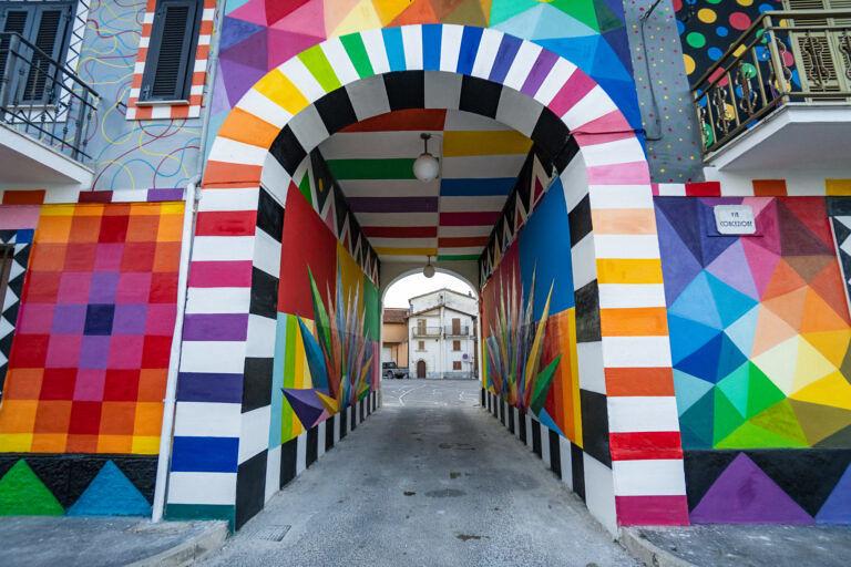 Il murale di Aielli tra i 55 più belli al mondo FOTO
