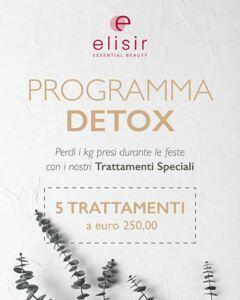 Il Centro estetico ELISIR propone un PROGRAMMA DETOX per dopo le feste