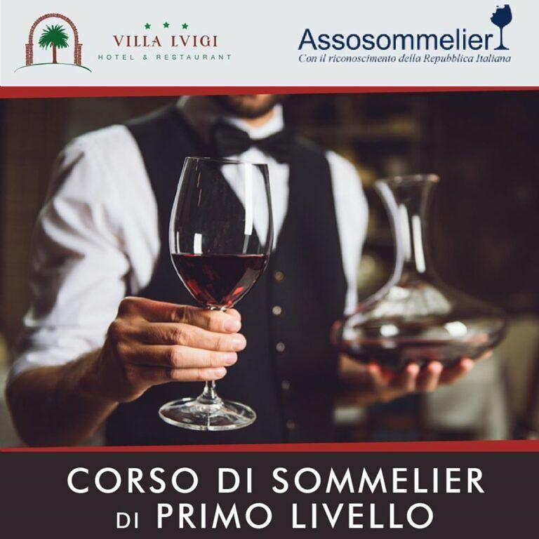 L'HOTEL VILLA LUIGI ORGANIZZA il Primo livello del Corso Sommelier da martedì 18/02/2020