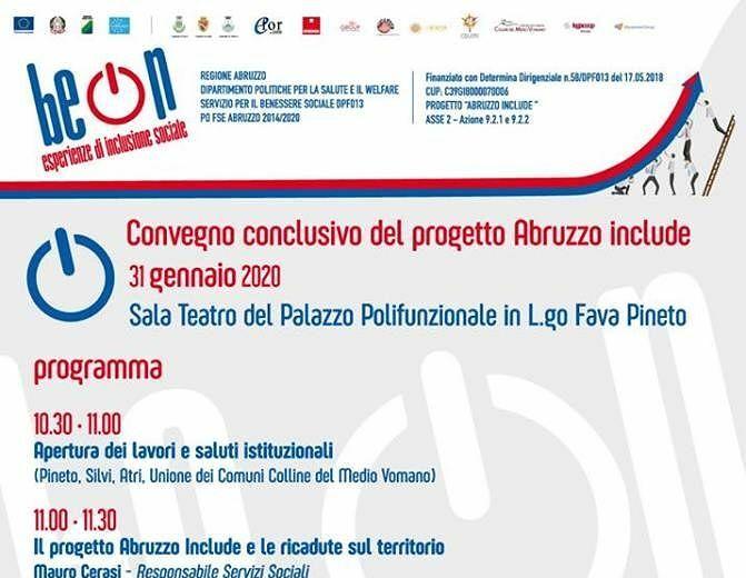 Pineto, domani il convegno conclusivo di Be On: il progetto per ridurre l'esclusione sociale