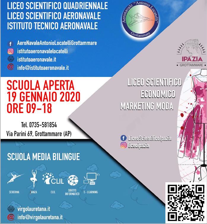 """Scopri tutte le offerte formative dell'Istituto Locatelli a Grottammare. Domenica 19 Gennaio """"SCUOLA APERTA"""""""