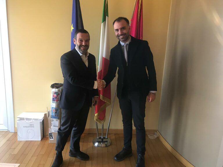 Corecom Abruzzo: il neo-presidente La Rana incontra Sospiri