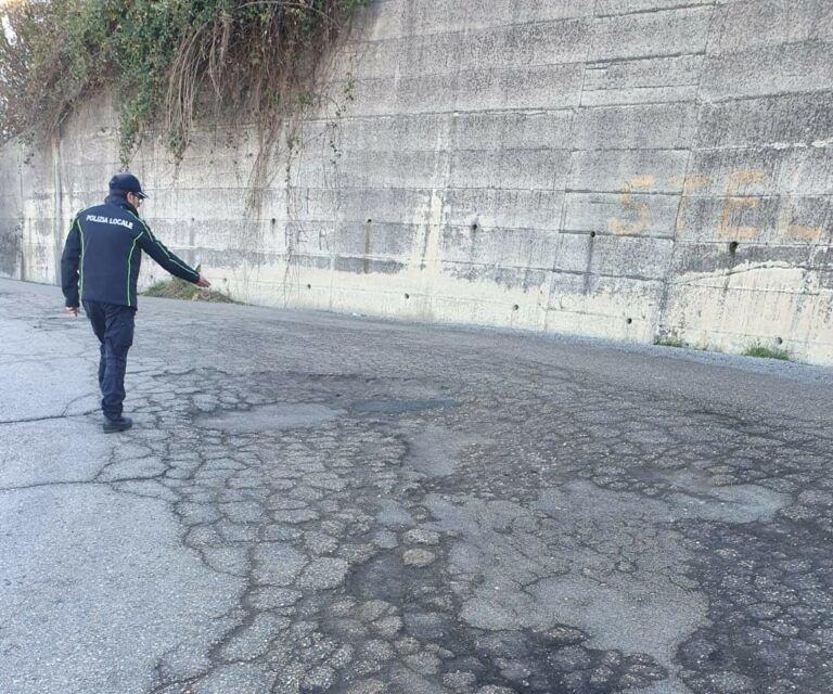 Ancarano, strade provinciali dissestate: verbale della polizia locale dopo il sopralluogo FOTO