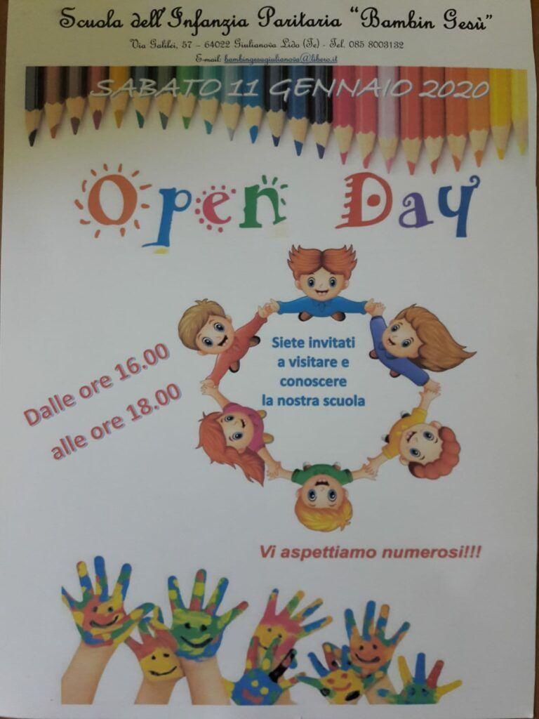 Open Day alla scuola dell'infanzia Bambin Gesù