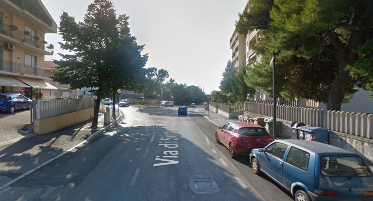 Pescara Colli: carreggiata ridotta per rallentare le auto in via di Sotto