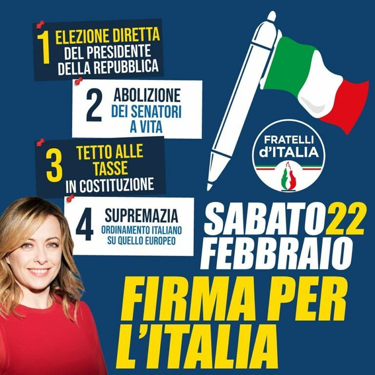 Fratelli d'Italia Teramo: ecco dove votare per le quattro proposte di legge di iniziativa popolare