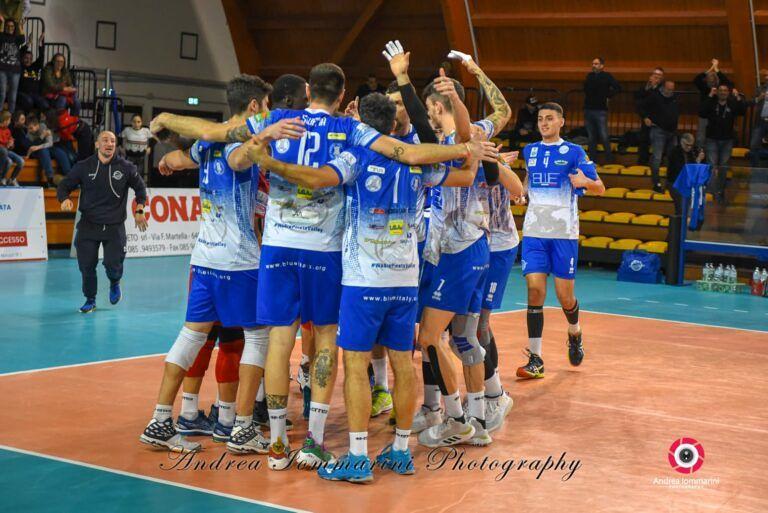 Volley: tre punti alla Blueitaly Pineto che torna in vetta