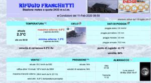 Gran Sasso, al Rifugio Franchetti raffiche ad oltre 200 km/h