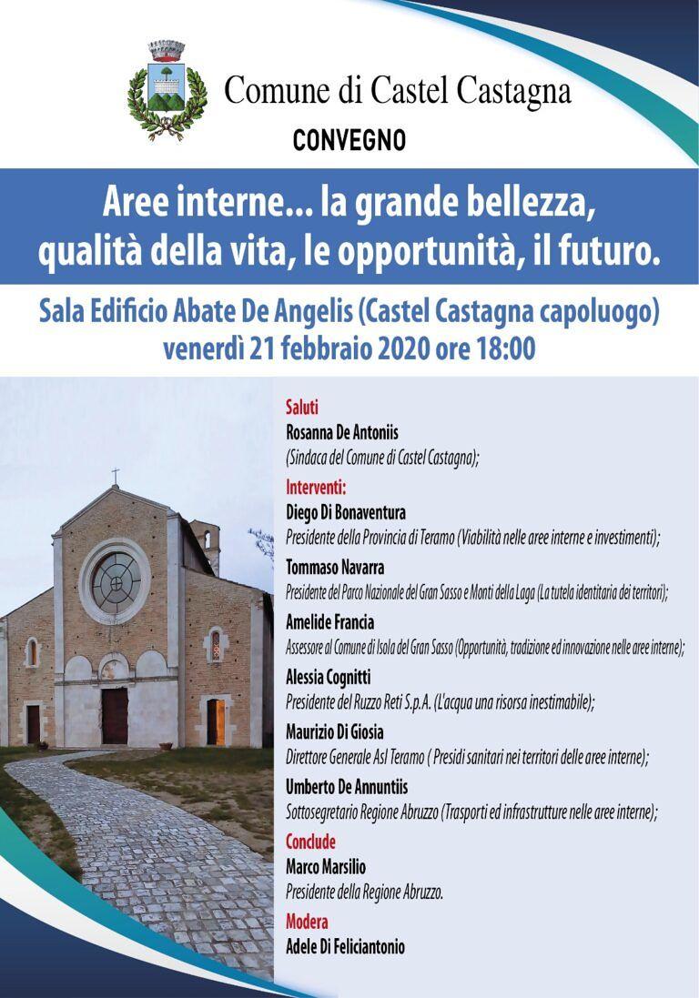 Rilancio delle aree interne: convegno a Castel Castagna