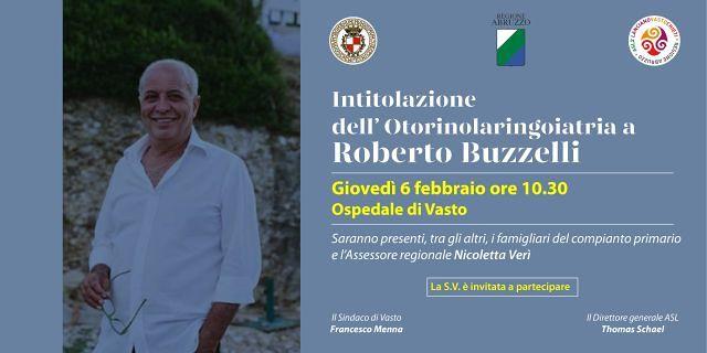 Ospedale di Vasto intitolazione del reparto di Otorinolaringoiatria a Roberto Buzzelli