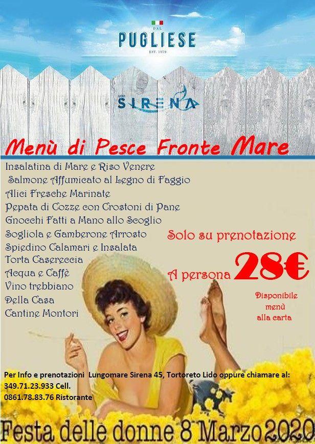 Per la Festa della donna prenota il tuo tavolo presso Il Ristorante Dal Pugliese a Tortoreto Lido