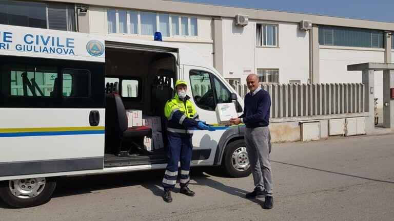Coronavirus, altre donazioni di aziende e privati a Giulianova. Mascherine per altri reparti dell'ospedale