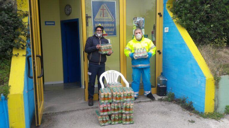 Campli, azienda dona prodotti ad associazioni di volontariato FOTO
