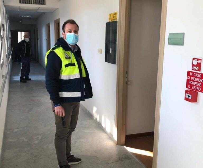Giulianova, pazienti Covid nella RSA: nuovo sopralluogo del sindaco FOTO