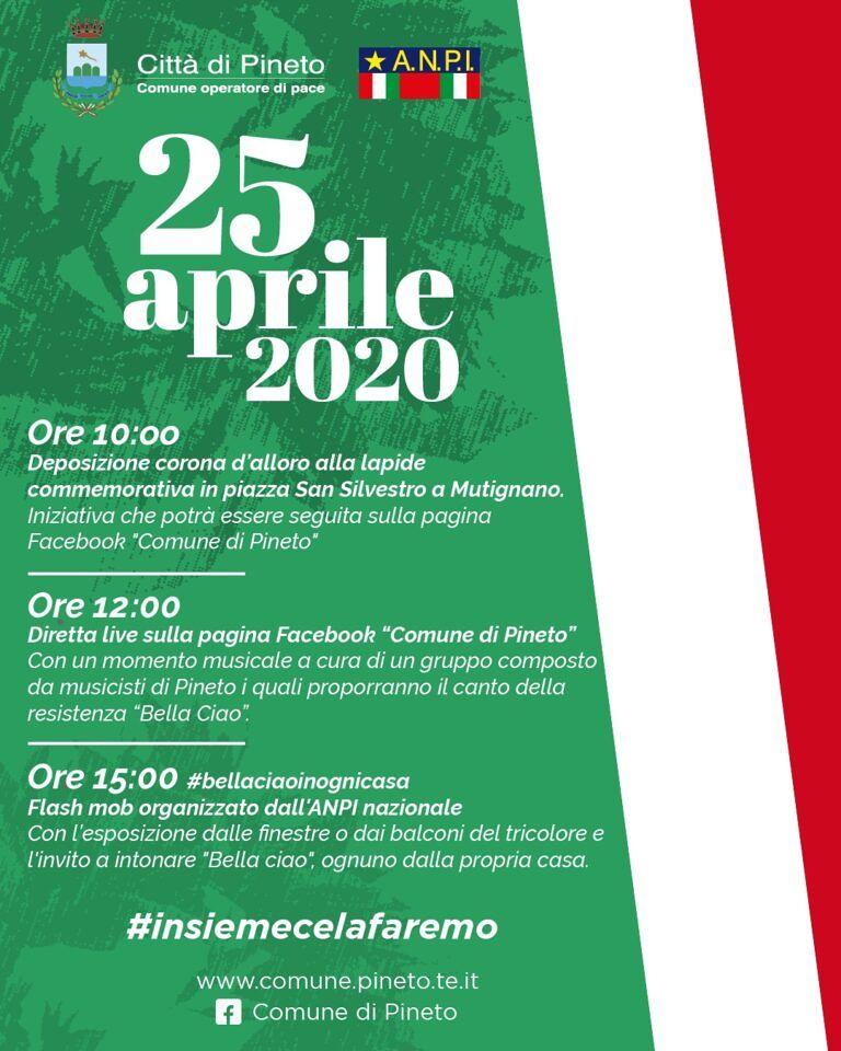 """25 aprile 2020: il """"Bella Ciao"""" cantato da Pineto"""