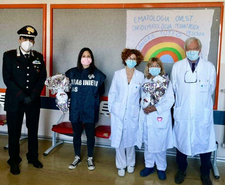 Pescara, i Nas donano le uova di Pasqua ai piccoli pazienti di Oncoematologia