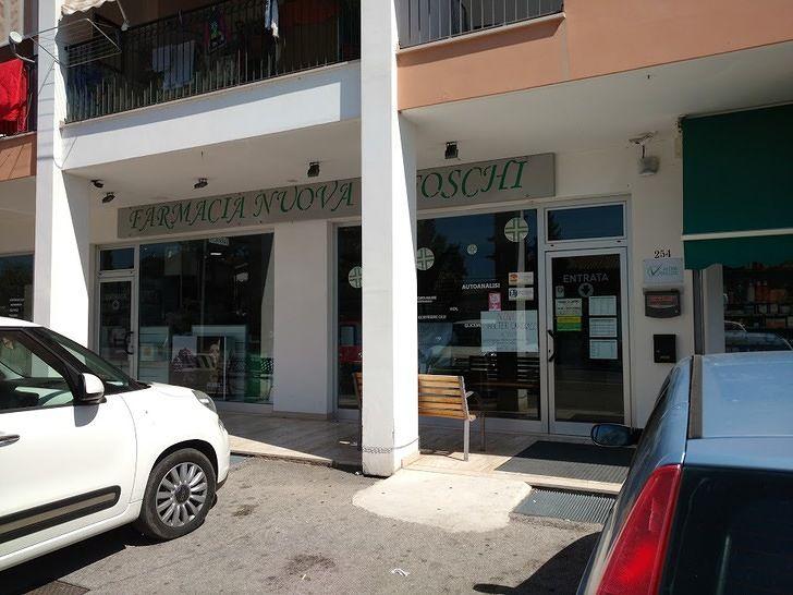 Spaccata nella farmacia di Bellante Stazione: in azione due persone incappucciate