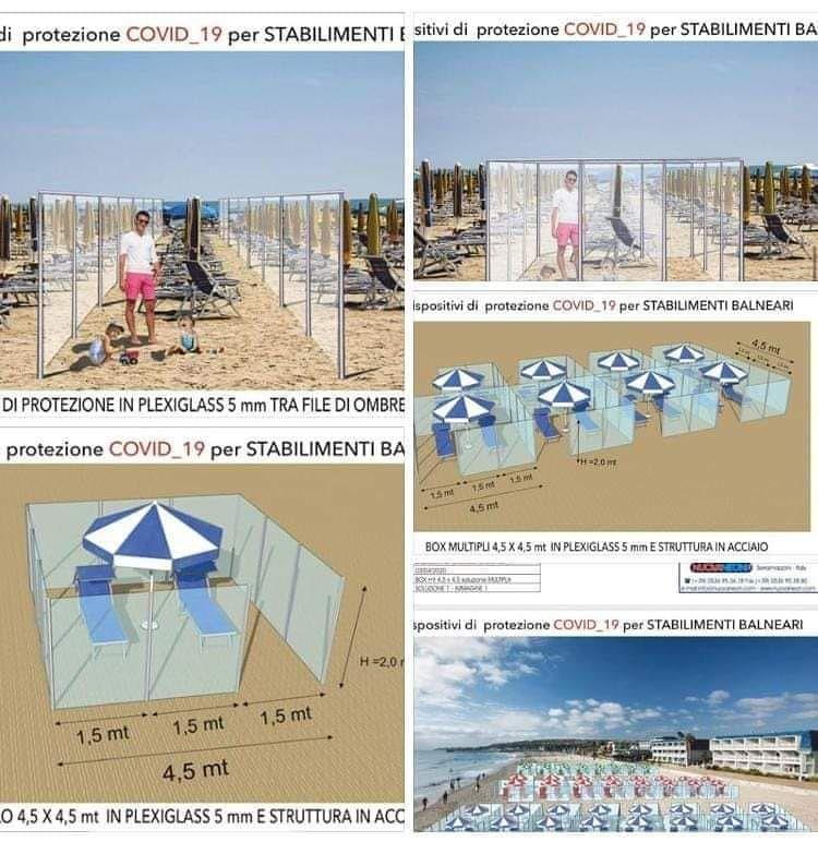 Roseto, un coro di no all'ipotesi di pannelli di plexiglass in spiaggia