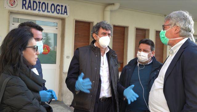 Il presidente Marsilio in visita al Covid Hospital di Atessa: 'Un investimento che dà forza per il futuro' VIDEO