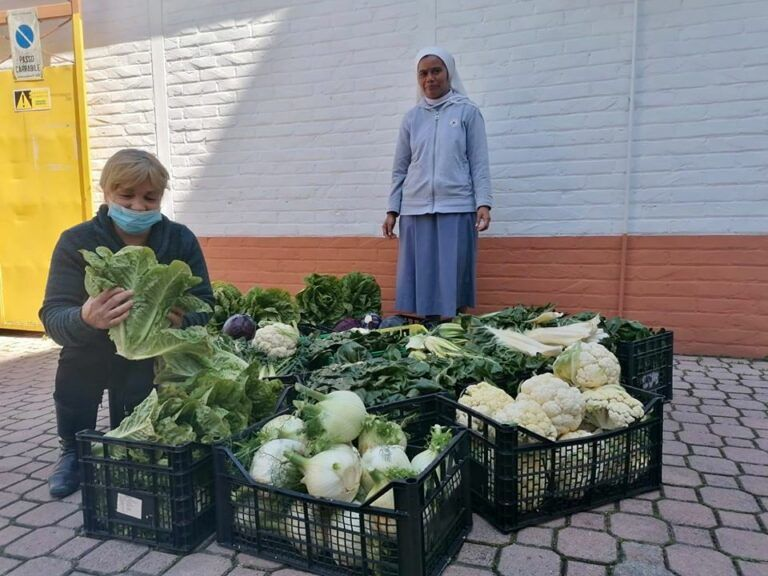 Giulianova, 500 kg di ortaggi freschi donati all'Istituto Castorani FOTO
