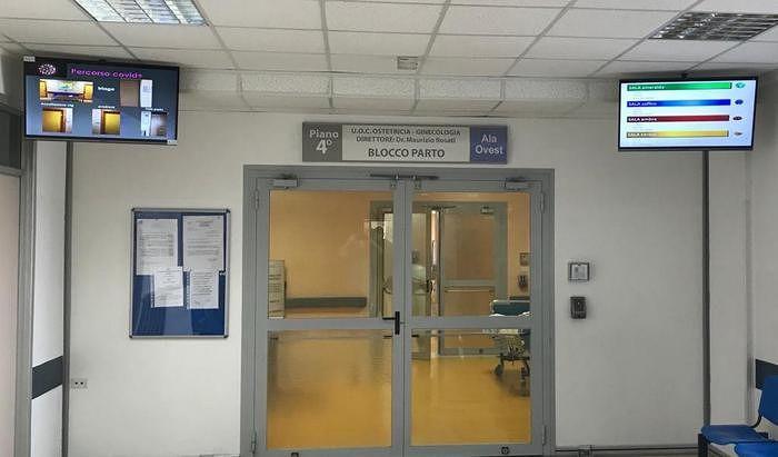Coronavirus: all'ospedale di Pescara doppio percorso in sala parto e un algoritmo per separare le partorienti