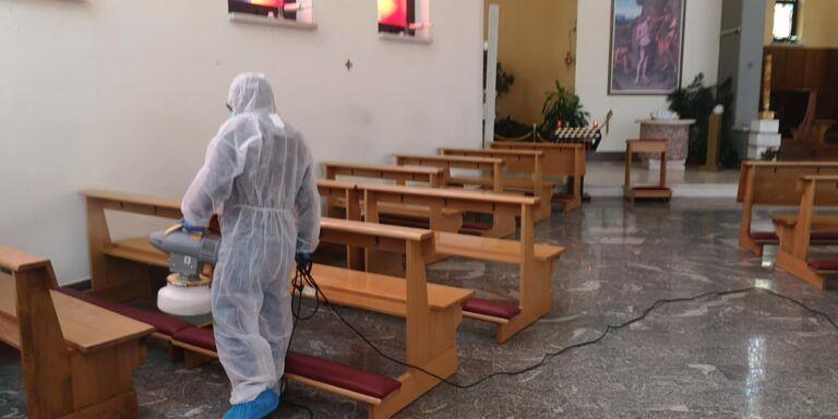 Tortoreto, sanificazione per la chiesa di Santa Maria