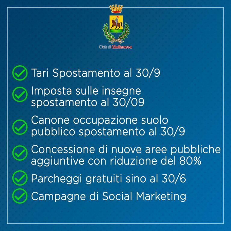 Fase 2, le iniziative di Giulianova per rilanciare commercio e turismo. Francioni: 'ridurre la TARI'