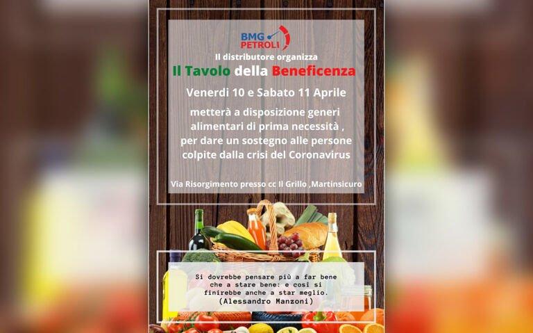 Distributore BMG PETROLI organizza Tavolo della Beneficenza