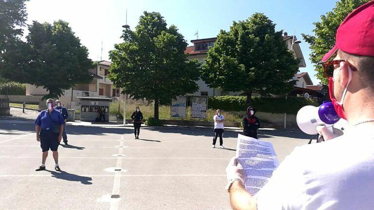 Sant'Egidio, mascherine tricolori di nuovo in piazza