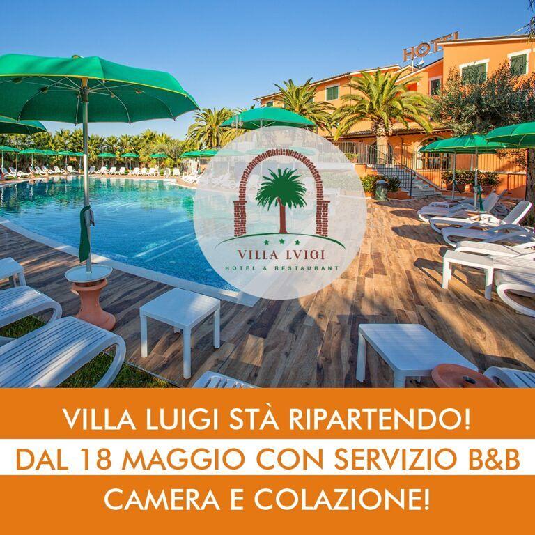 Hotel Villa Luigi dal 18 Maggio riparte con il servizio B&B!