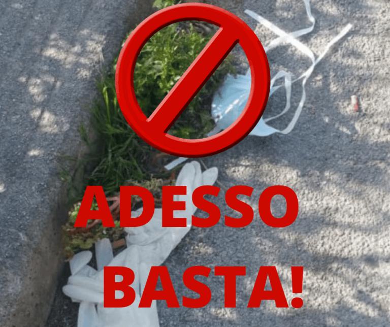 Città Sant'Angelo, multe fino a 500 euro per chi non smaltisce guanti e mascherine