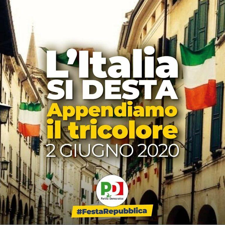 Giulianova, il PD festeggia il 2 giugno con il Tricolore