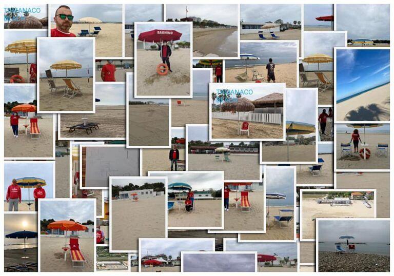 Un ombrellone piantato in spiaggia: la protesta silenziosa dei balneari abruzzesi FOTO