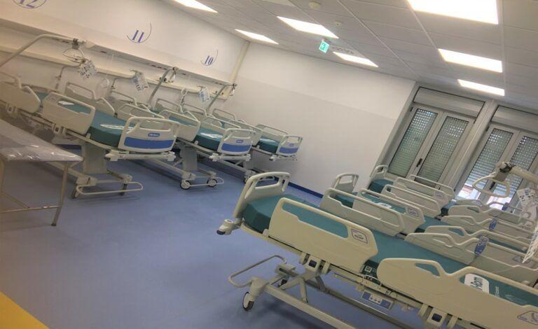 Pescara, inaugurati i primi 32 posti letto del Covid Hospital VIDEO-FOTO