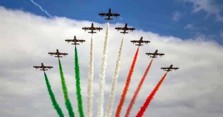 Frecce Tricolori: martedì il sorvolo a L'Aquila