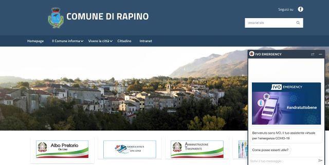 Rapino adotta Ivo Emergency: un assistente virtuale per il coronavirus