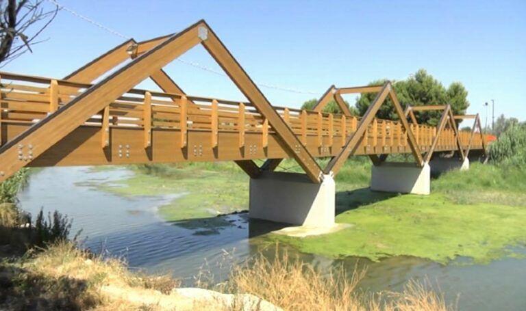 Fase due, riapre il ponte ciclabile sul torrente Vibrata