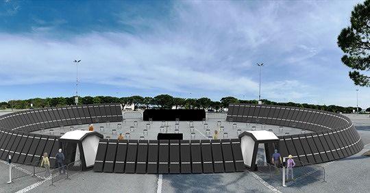 Martinsicuro, arena gonfiabile per gli eventi estivi nell'era Covid. L'idea