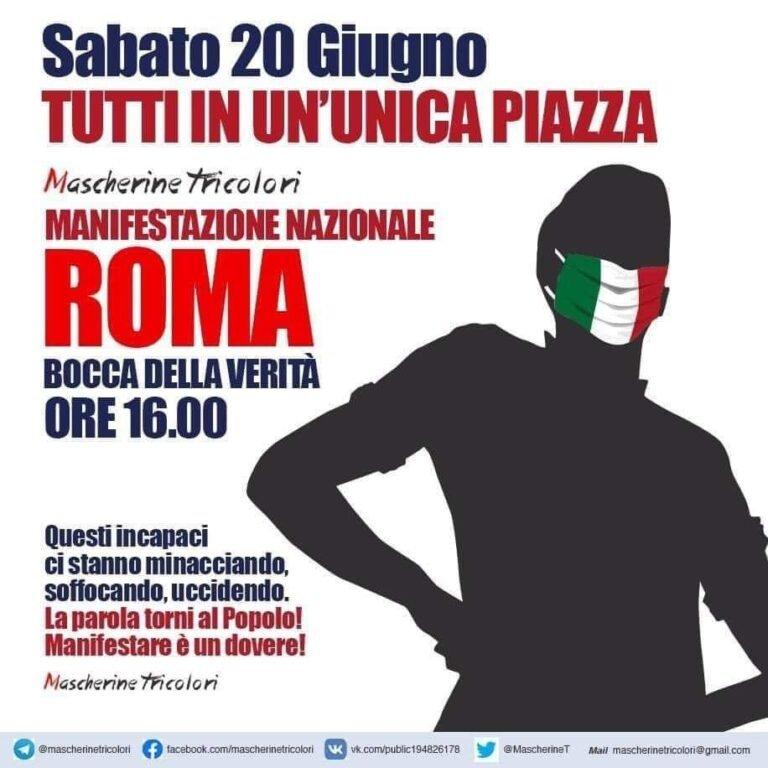 Le Mascherine Tricolori scendono in piazza a Roma: partenze anche dalla provincia di Teramo
