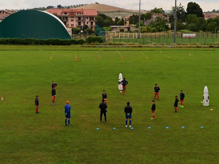 Nuova Santegidiese, la scuola calcio giallorossa una delle prime a ripartire VIDEO FOTO