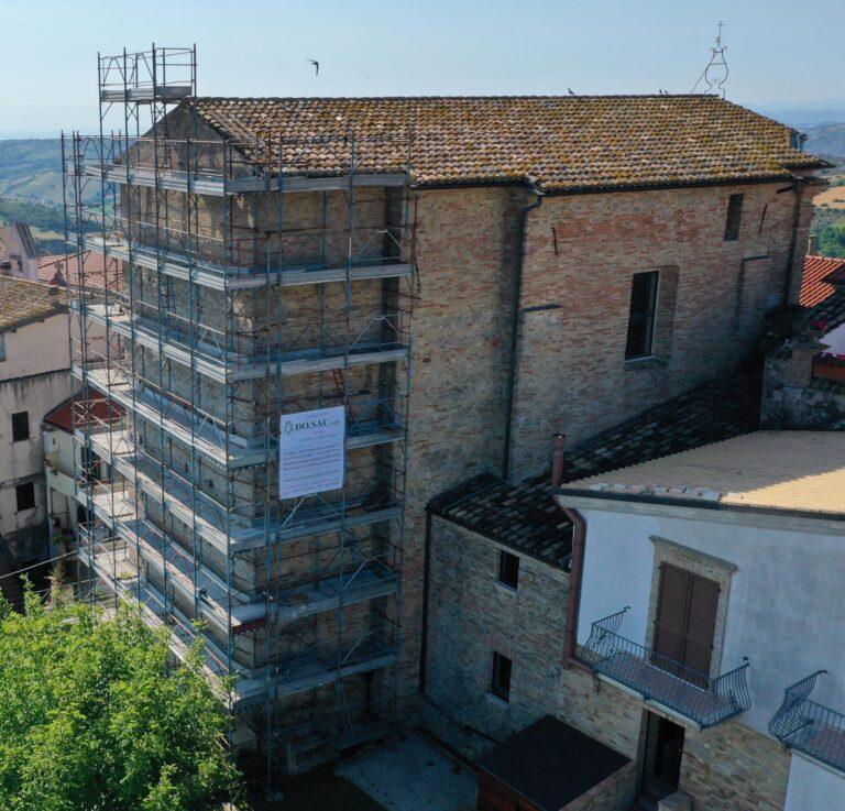 Pineto, in corso i lavori di copertura dell'Auditorium di Mutignano