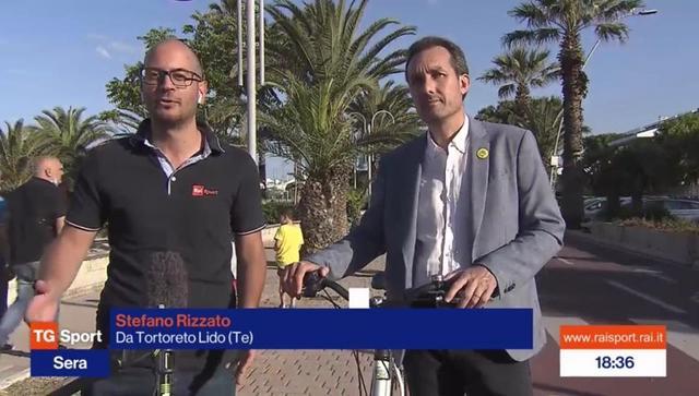 Tortoreto, la ciclovia finisce sul TG Sport di Rai2 VIDEO