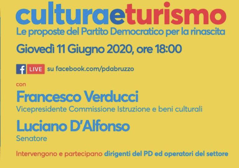 Rilanciare cultura e turismo, il Pd ne parla in diretta Facebook