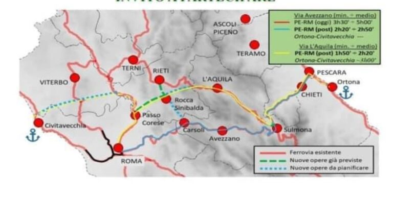 Alta velocità, Lega: aree interne come cerniera di collegamento tra Roma, L'Aquila e Teramo