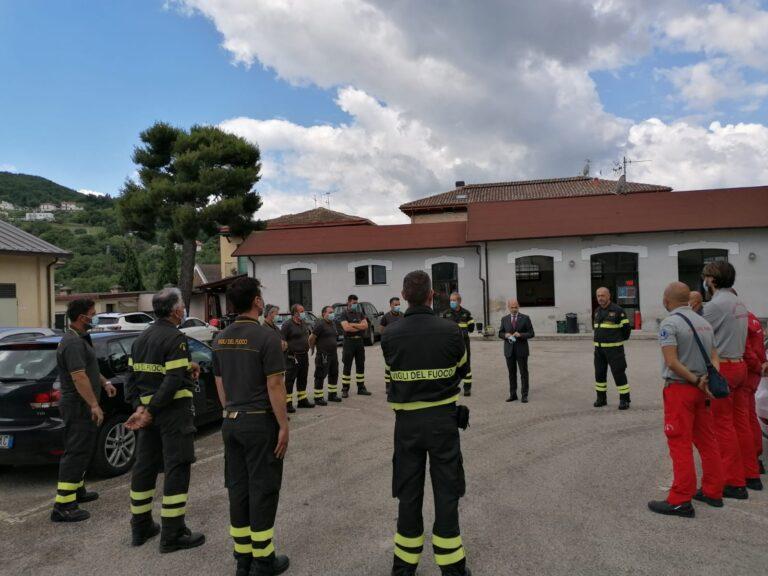 Teramo, il Prefetto De Prisco in visita dai vigili del fuoco FOTO