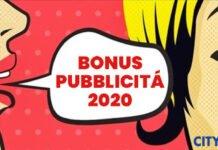 bonus pubblicita 2020 cityrumors
