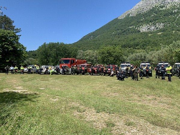 Incendio boschivo: esercitazione nel Parco Nazionale d'Abruzzo FOTO