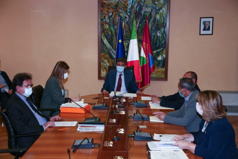 Abruzzo, giunta regionale: i provvedimenti odierni