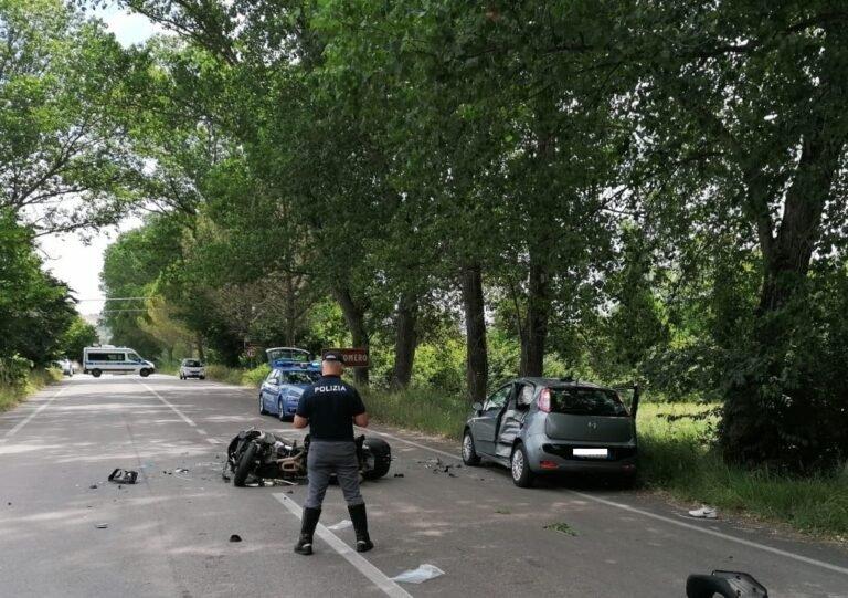 Incidente sulla Bonifica del Salinello: morto il motociclista